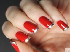 red-clasic-nail-art-design-with-French-manicure