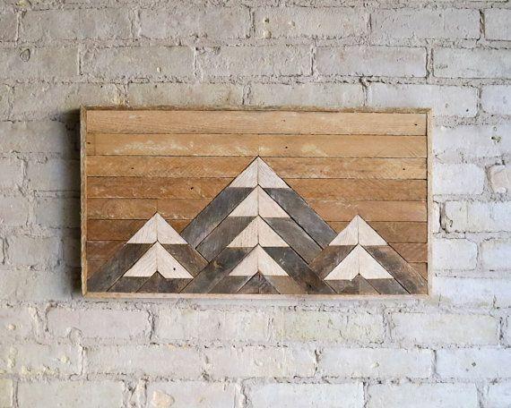 Recuperata la parete in legno arte di EleventyOneStudio su Etsy