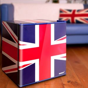 Husky Union Jack Refrigerator   Mini Fridge, another cool fridge. i would probably put one in my garage or craftroom