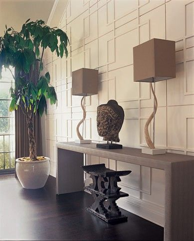 A decorative moulding application is a great way to define and style a large wall