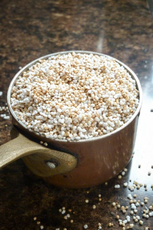 """How to make puffed amaranth cereal at home!!!!!! Could use this with almost any """"grain"""" (millet, barley, etc) Very similar to making stovetop popcorn!"""