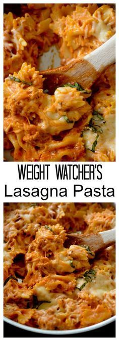Weight Watcher Recipes - Lasagna Pasta - Recipe Diaries #pasta