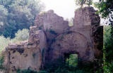 """VALANIO The ruins of a byzantine bath which is located in """"fragoklisia """" near the banks of a small stream."""