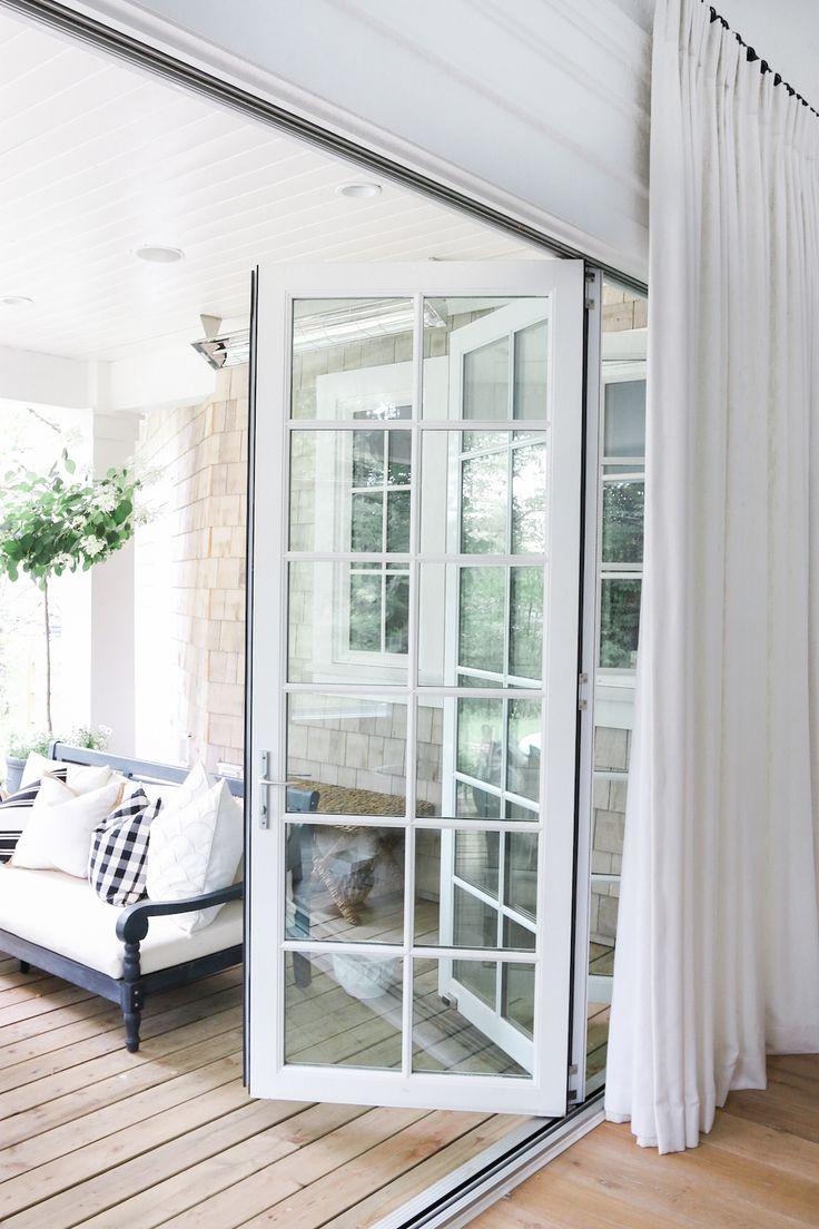 White folding doors | Outdoor Living | http://monikahibbs.com