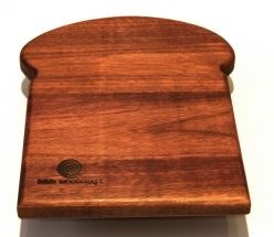 Solid Walnut Bread  or Cheese board.  These are convenient boards that can be used when making a sandwich or cutting smaller items.  The board is ideally sized and will live in your cutlery drawer or other small spaces.  There are two boards in the set and they measure 250mm X180mm X20mm.
