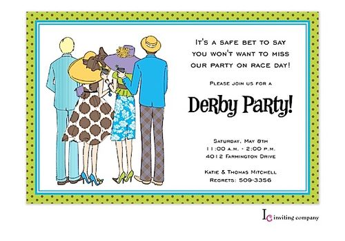 Kentucky Derby Party invitations - party invitations ...