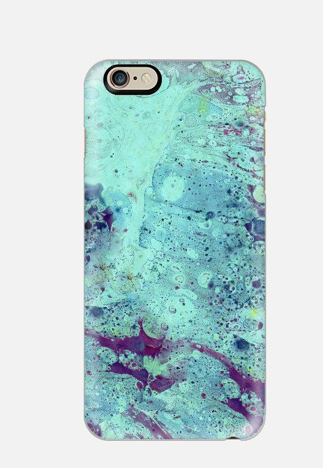 Marble iPhone 6S Case Seafoam Marble by cellcasebythatsnancy