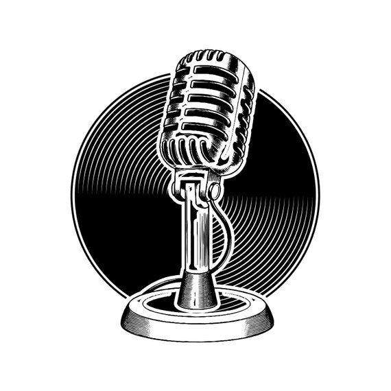 Microphone 4 Audio Sound Recording Record Voice Mic Music Etsy Audio Sound Studio Equipment Studio Logo