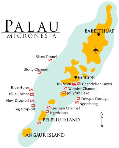 Palau is our favorite place to dive. While stationed in Guam, we took a trip there to dive.