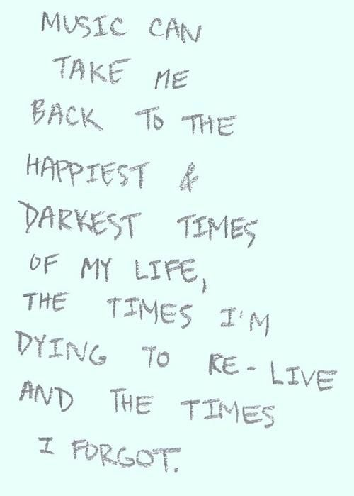 #Music can take me back