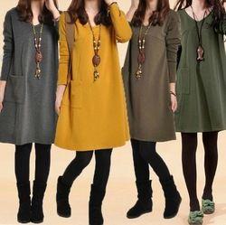 Online Shop Plus Size Waist 120cm Maternity Winter Dresses New 2015 Fashion Vestidos Casual Dress Cotton Atacado Roupas Femininas YELLOW|Aliexpress Mobile
