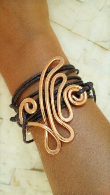 Handmade wire jewellery bracelets