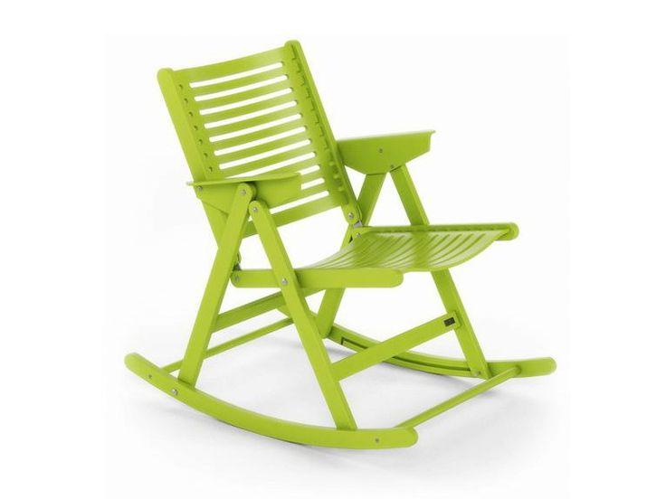 Rocking folding wooden chair REX  Rocking chair - Rex Kralj