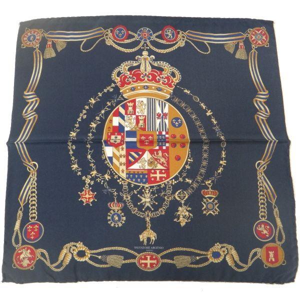 【レビューで送料無料】【Salvatore Argenio】ポケットチーフ・王冠とナポリの紋章・ネイビーのポケットスクウェア【あす楽対応】【楽ギフ_包装選択】【楽ギフ_メッセ入力】【カフスマニア】【楽天市場】