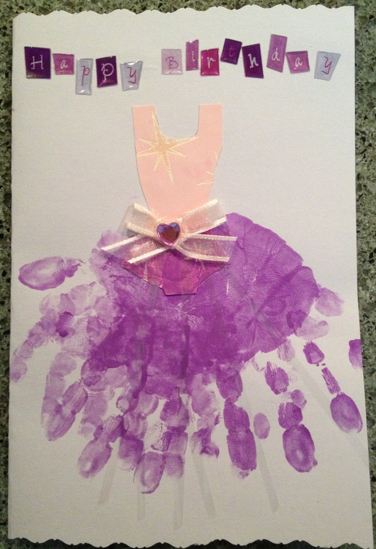18 best Birthday cards images on Pinterest Handprint art Kids