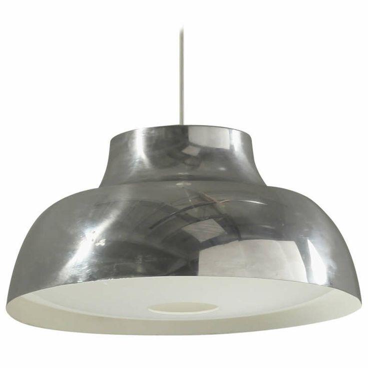 Large Aluminium Pendant Lamp by Lisa Johansson-Pape for Orno