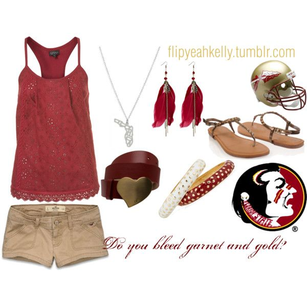 """""""Do You Bleed Garnet and Gold?"""" by eveningandmorning on Polyvore"""
