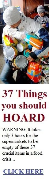 37 Things You Should HOARD In Case of a Crisis : it takes only 3 hours after a crisis for these grocery items to be sold out. A simple yet amazing grocery list..