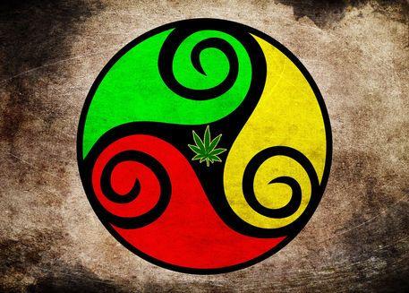 'Grunge Reggae Vibes - Cool Weed Pot Reggae Rasta Art Prints' by Denis Marsili on artflakes.com as poster or art print $16.91