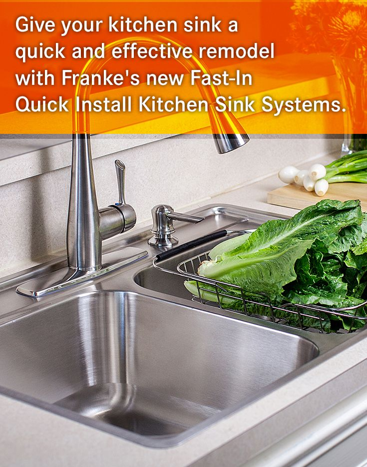 Give Your Kitchen Sink A Quick And Effective Remodel With Frankeu0027s New  Fast In Quick