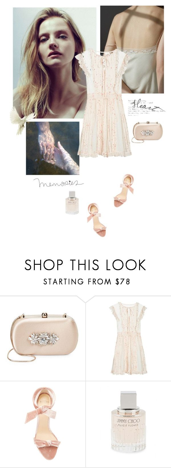 """Take My Hand And I Will Catch You"" by nicolesynth ❤ liked on Polyvore featuring Badgley Mischka, GET LOST, RED Valentino, Alexandre Birman, Jimmy Choo and soft"