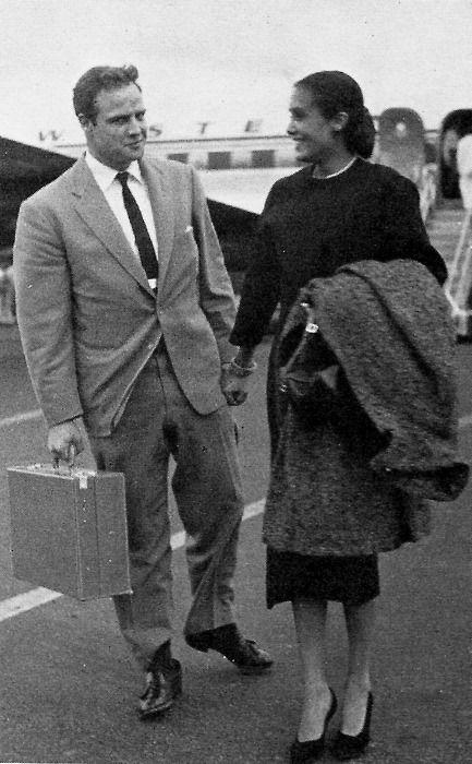 Marlon Brando & his first wife Anna Kashfi  (1957-1959, 1 child)