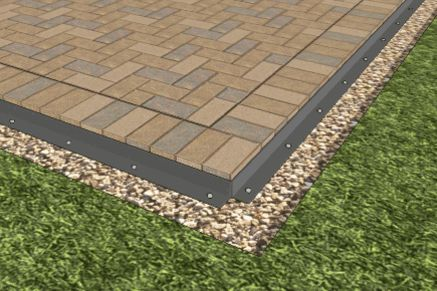 Installing Paver Edging on Paver Patio - This is what I was talking about around the edge.