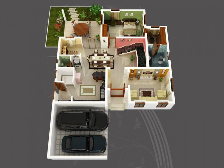 Small house 1 bed 2 5 bath sims house ideas for Home design 3d 5 0 crack