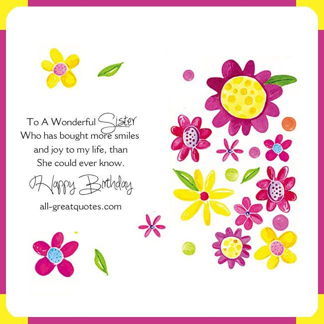 for wonderful sister happy birthday cards images wishes loving greetings