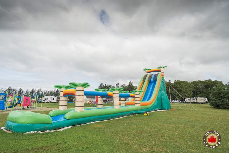 The water slide at Jellystone PEI is soooo much fun!