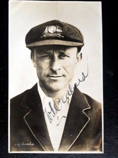 Bert Oldfield NSW, AUS (1919-1938) - Rare Autographed Mono Original Postcard - Oldfield was named Wisden Cricketer of the year in 1927