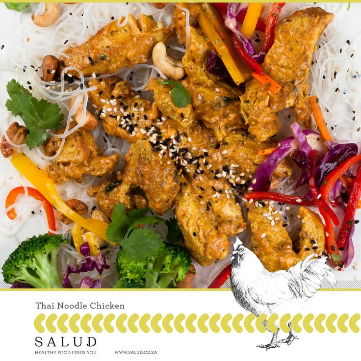 Thai Noodle Chicken   Healthy prepared take home meals delivered to you.   www.salud.co.za