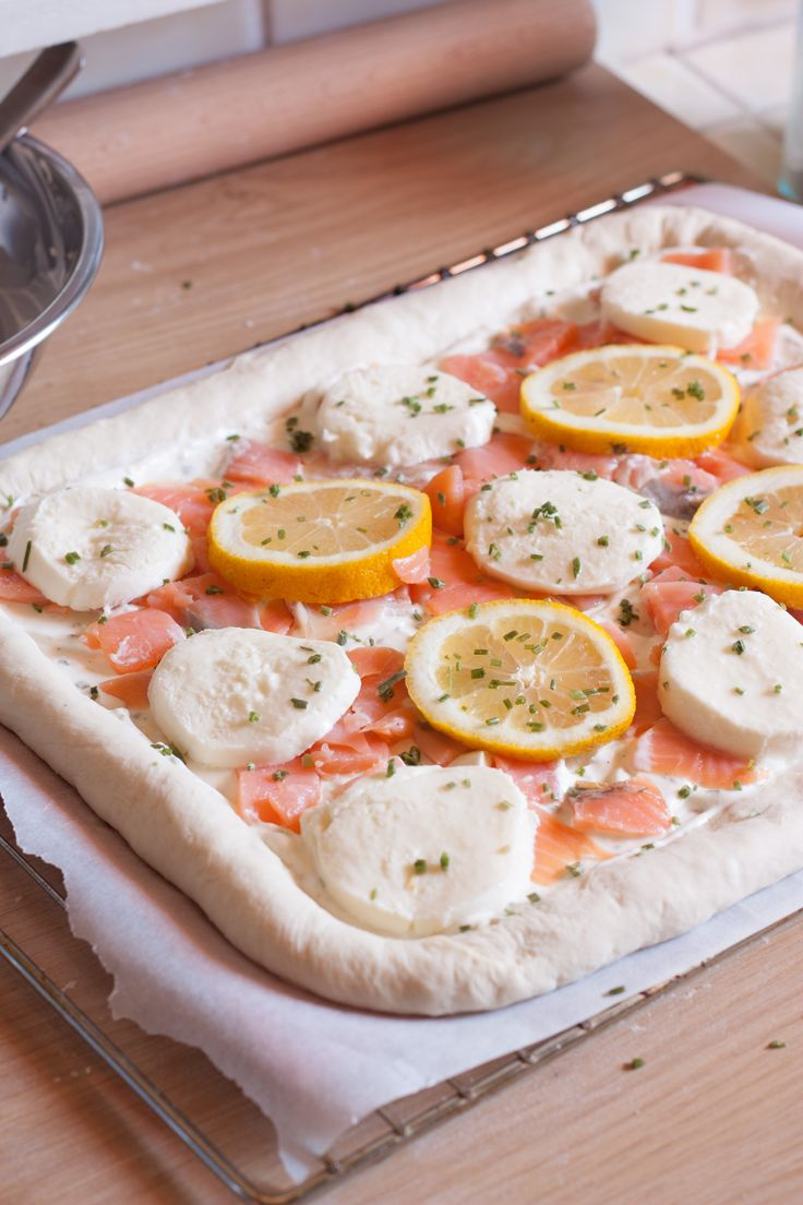 pizza saumon fum crme dail - Location Camion Pizza Mariage