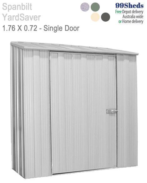 Gotta narrow space, but need a large door to fit your gear. Perhaps you need to store fire wood. Then the Slimline S52 measuring 1.76m x 0.72m may suit.