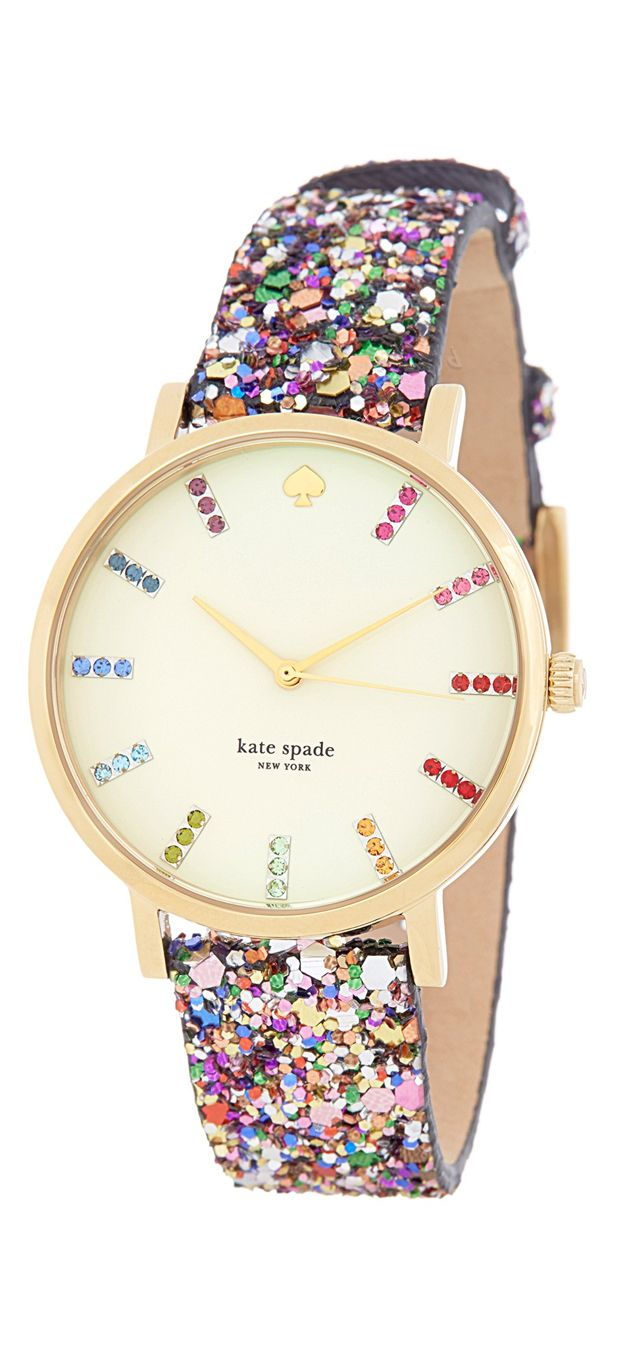 Glitter time! Love this rainbow Kate Spade watch #product_design