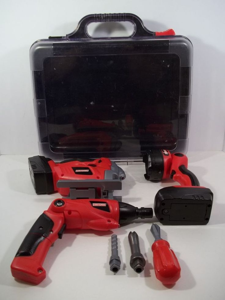 CRAFTSMAN TOY TOOL KIT WITH SOUNDS, LIGHTS AND CASE - 8 PIECES! #Craftsman