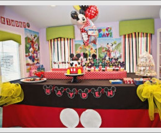 Mickey Mouse Clubhouse Birthday Party-- decorations; Happy Birthday Hayden!