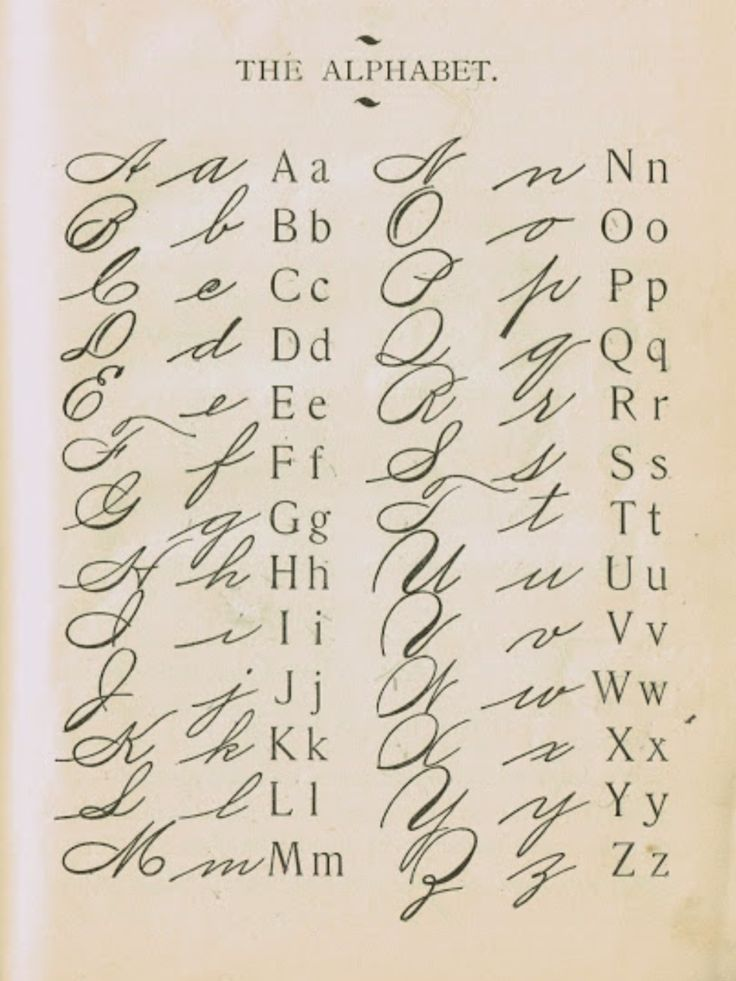 20 best Old Handwriting Styles images on Pinterest ...