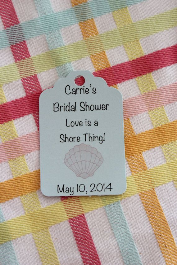 Shore Theme Bridal Shower Tags