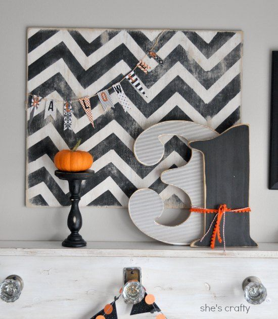 LOVE this Halloween mantel, but I want Kim Bell to help me make something like…