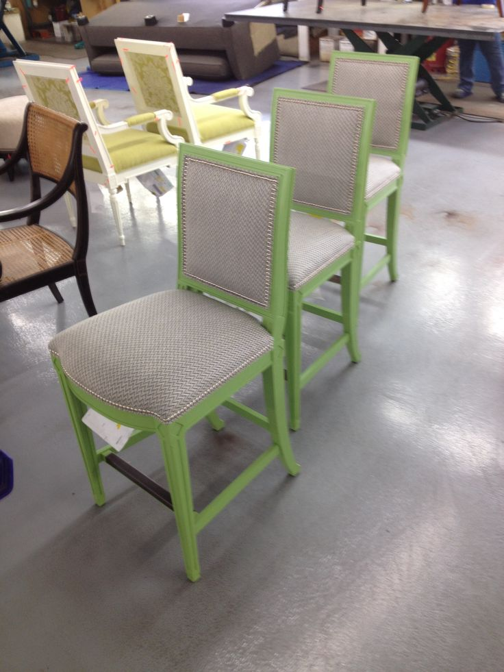 Amsterdam Counter Stools by Suzanne Kasler in a Match Panel green paint to match the customeru0027s. Hickory ChairCounter ... & 9 best Make Mine Red images on Pinterest | Hickory chair Bar ... islam-shia.org