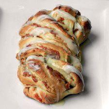 Cinnamon-Apple Twist Bread: King Arthur Flour w/potato flour, enhancer, etc