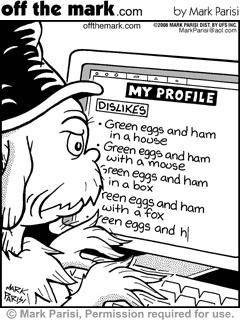 Dislikes... Green Eggs and Ham