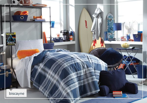 Great Look For Male Dorm Room Interior Decorating