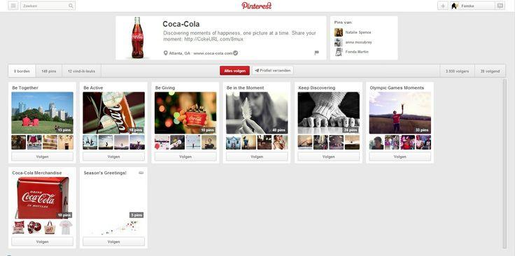 Coca-cola creëert een sfeer bij zijn product aan de hand van foto's. Met een Cola in je hand voel je je samen, actief,...