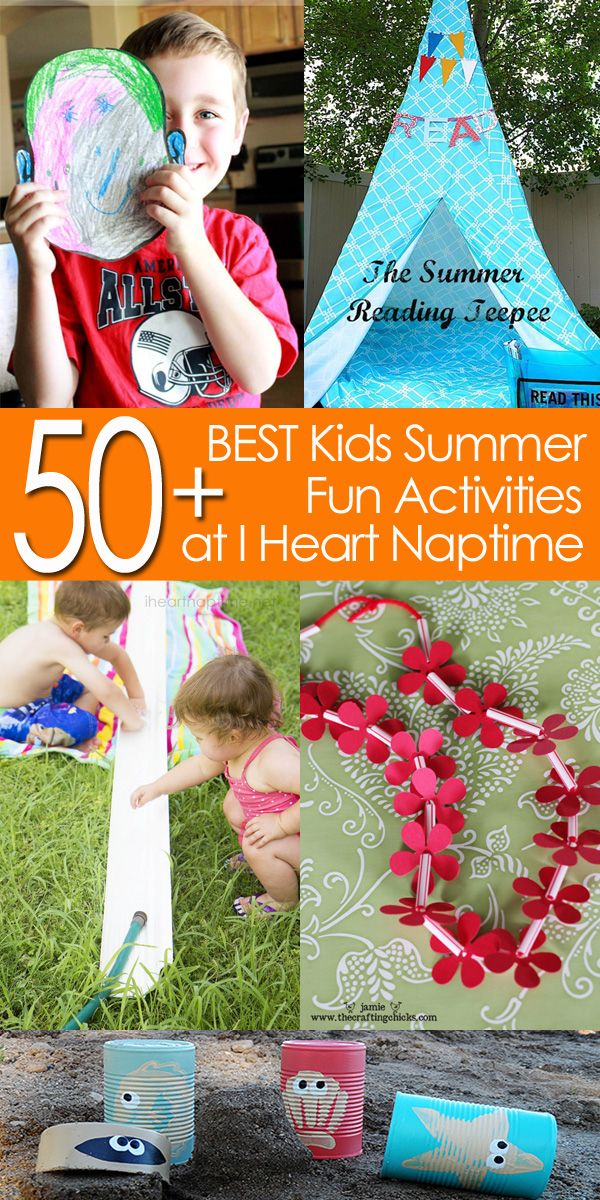 50+ of the BEST Kids Summer Fun Activities I Heart Nap Time | I Heart Nap Time - How to Crafts, Tutorials, DIY, Homemaker