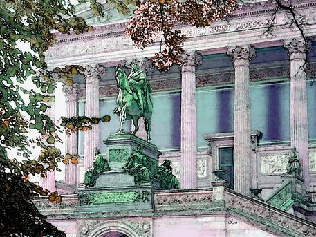 'Berlin, Alte Nationalgalerie' von Dirk h. Wendt bei artflakes.com als Poster oder Kunstdruck $18.03