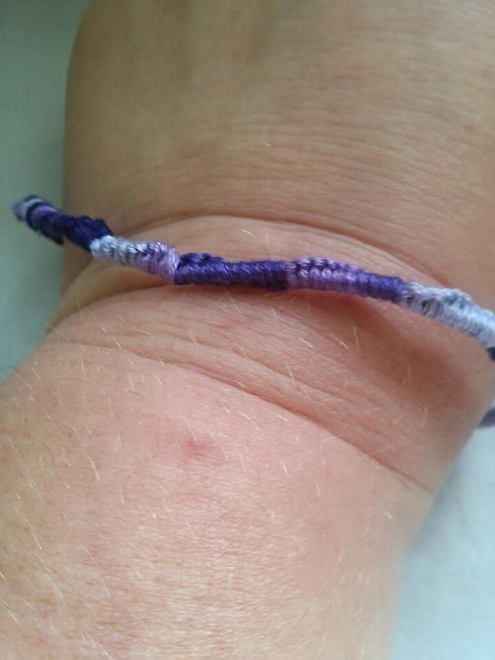 Purple ombre Chinese staircase friendship bracelet, gifts for her, gifts for him, stocking stuffer, ready to ship, under 5 by megsinstitches on Etsy
