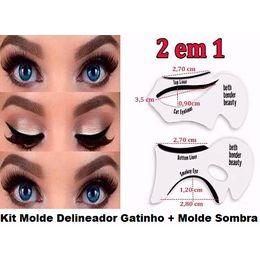 Kit Molde Delineador Gatinho + Molde Sombra