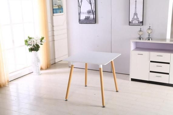Eames Inspired Scandinavian Dining table Modern and Contemporary Table in White Mix with DSW or DAW Chair